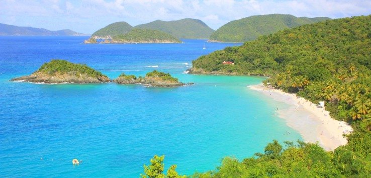 "Overlooking Trunk  Bay, ranked one of the ""Ten Best Beaches in The World"""