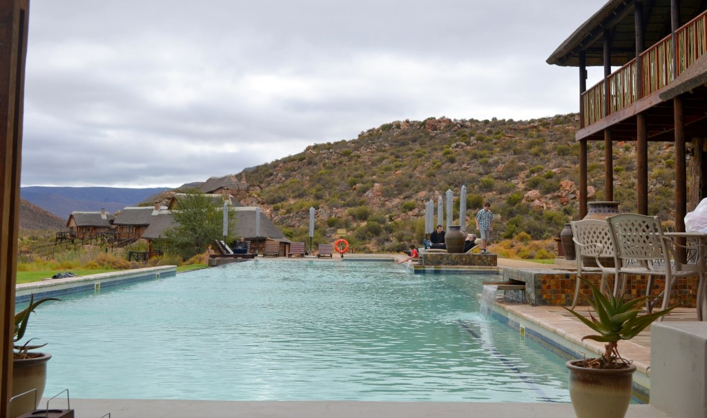 Salt water pool at The Aguila Game Reserve