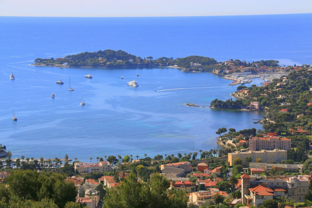 A view of the bay at Saint-Jean-Cap-Ferrat