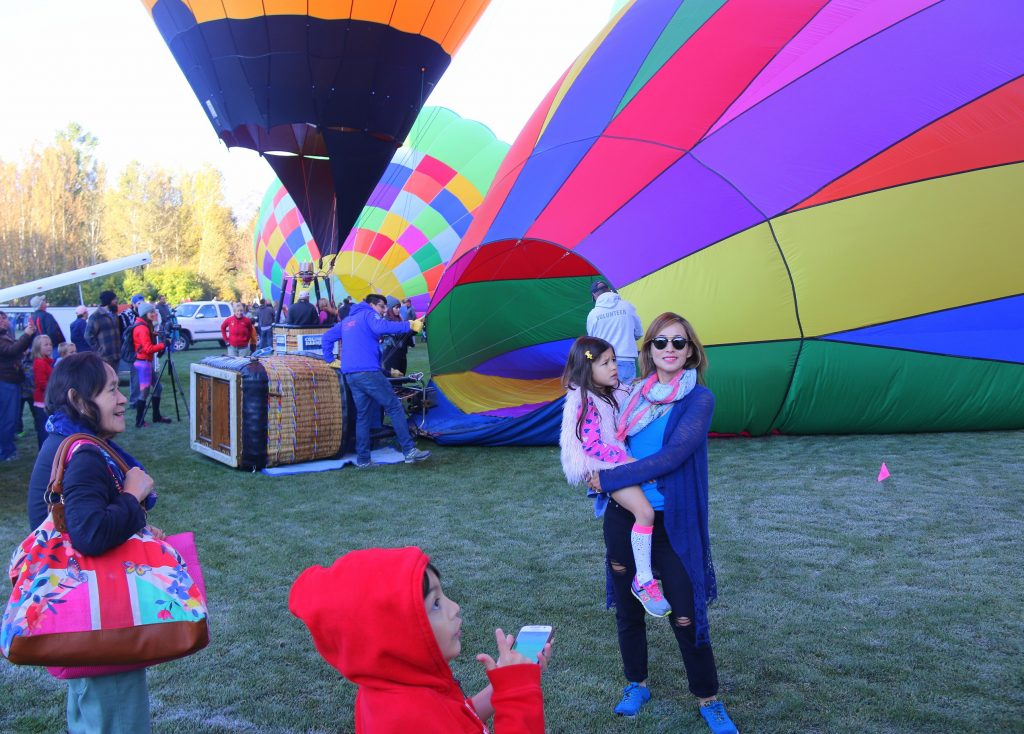 You watched from start to finish - from blowing up the balloon, launching up in the air and when they come down:)