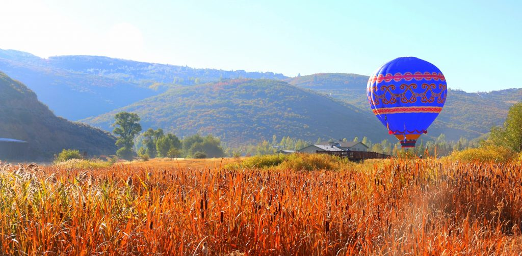 Hot air balloon slow in landing