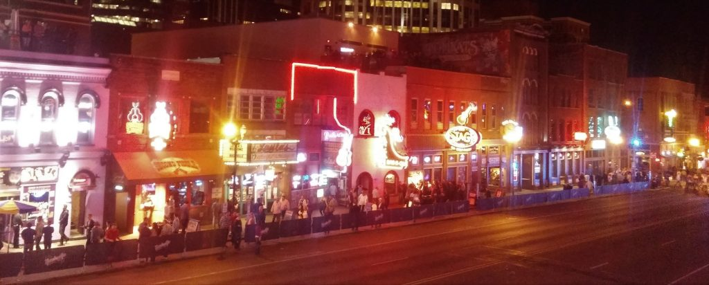 Broadway Street at night