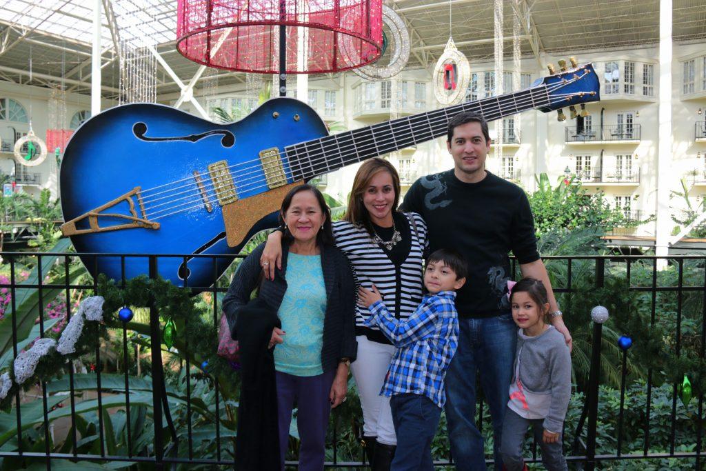 My beautiful family enjoying the beautiful Gaylord Opryland!!!
