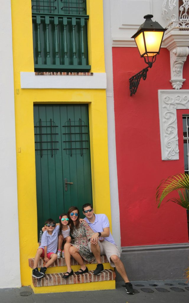 Colorful houses around San Juan