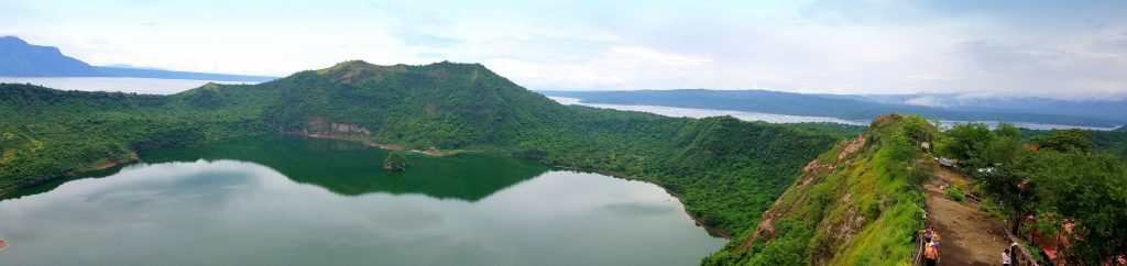 Welcome to Taal Volcano Crater. AN ISLAND, WITHIN A LAKE, IN A VOLCANO, IN A LAKE, ON AN ISLAND...