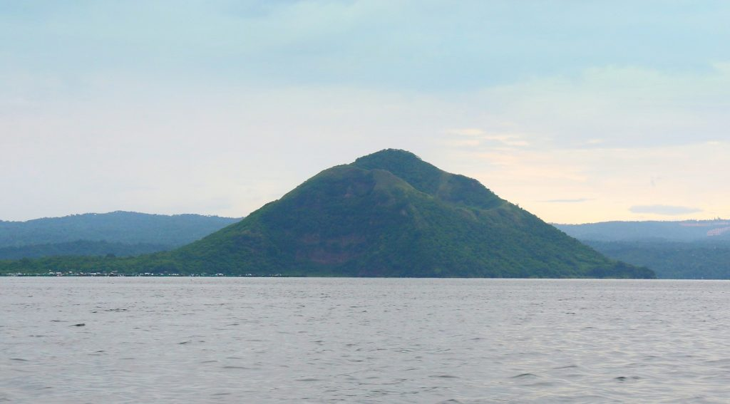 "Beautiful sight from our boat. Taal Volcano? No, you're wrong. For the longest time and for visiting Tagaytay for so many times, I thought this is the Taal Volcano. Locals call it ""Binintiang Malaki"" Its lava cone isn't the Taal Volcano and this is one of the most prominent landforms in volcano island which is so visible when you are in Tagaytay."