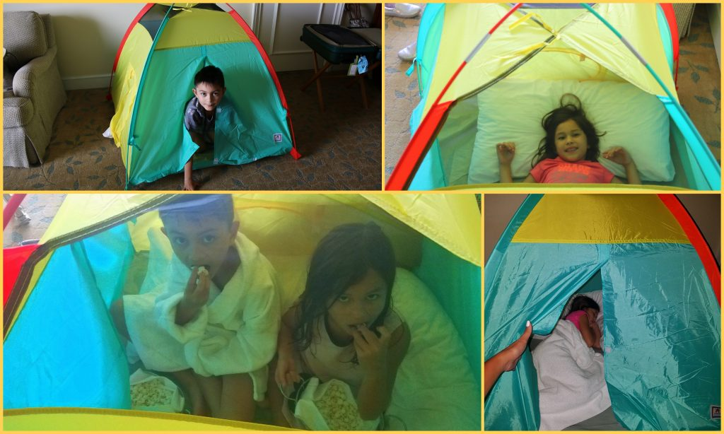 The tent was a hit. Plus, popcorn.... kids don't wanna leave:)