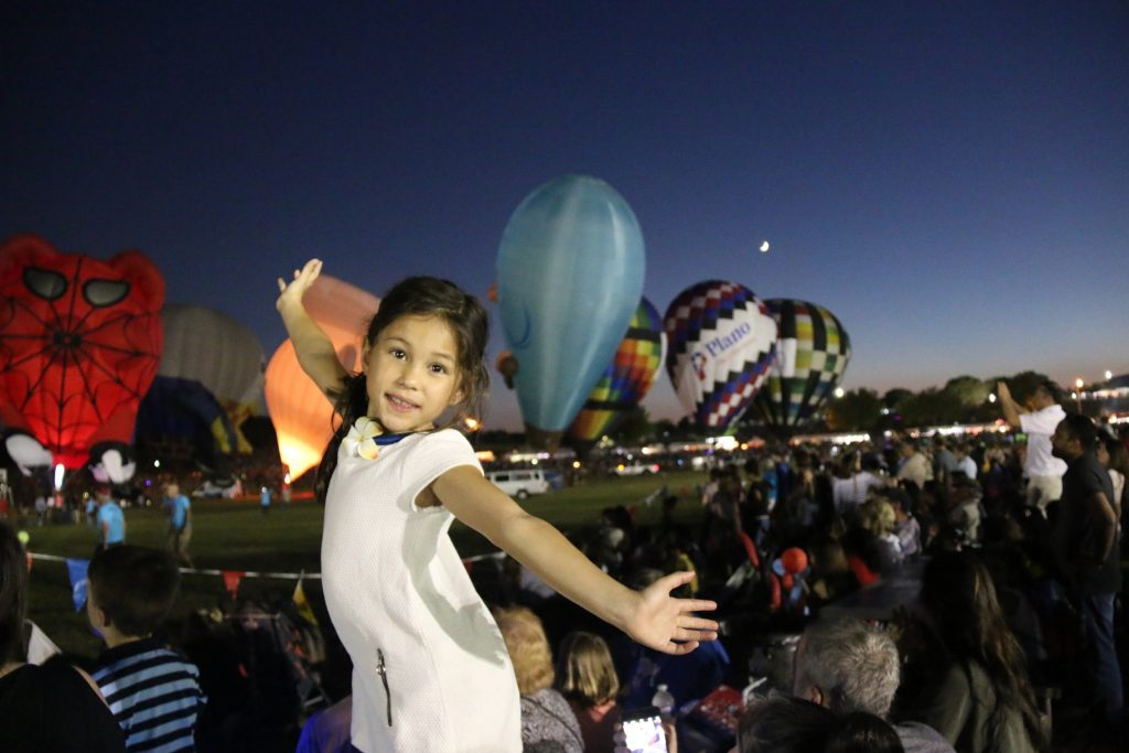 My girl, so excited for the Balloon GLOW