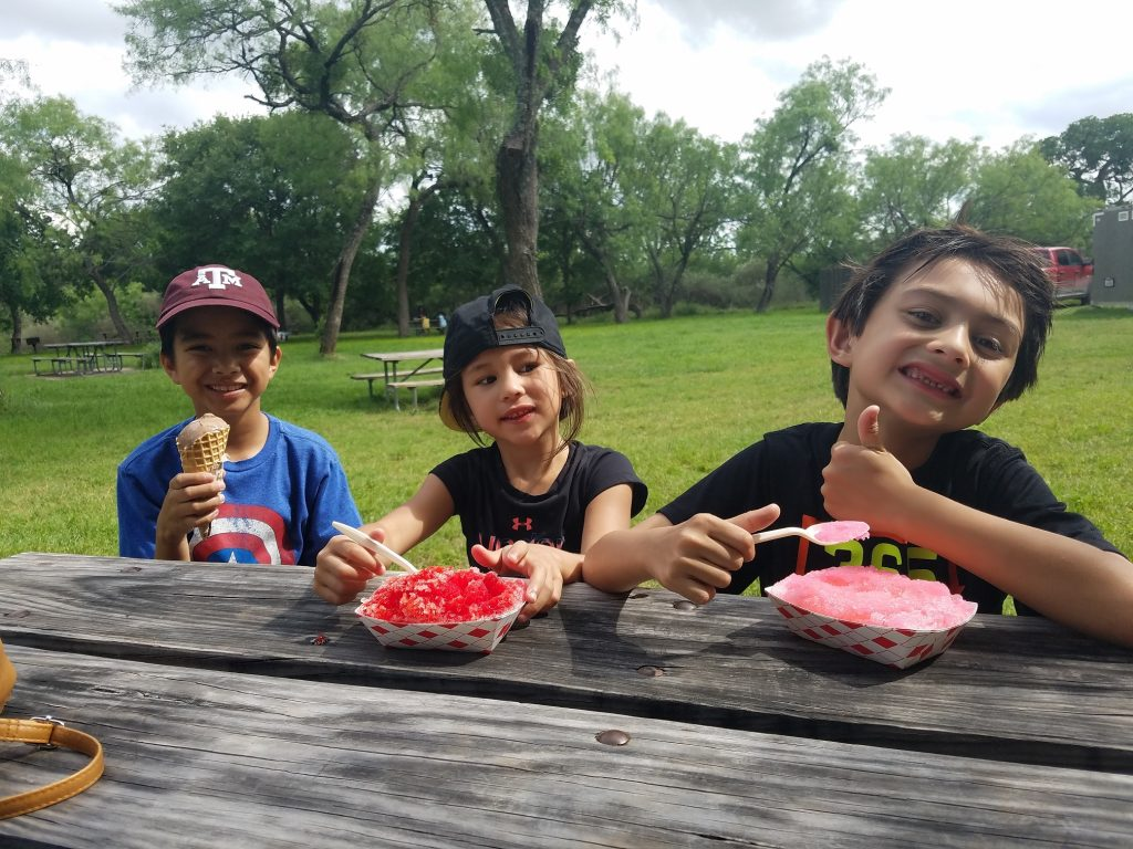 Ending our hike with some Shave ice and Ice cream:)