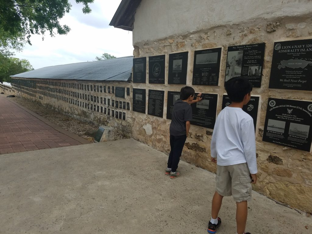 Memorial Courtyard... AMazing how these kids got too interested with the history. So happy:)