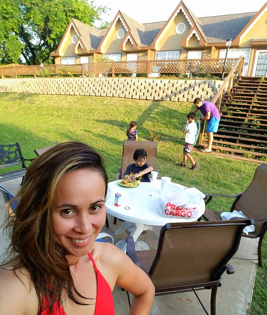 One fine afternoon at Inn on Barons Creek; we took a dip in the pool and had picnic:)