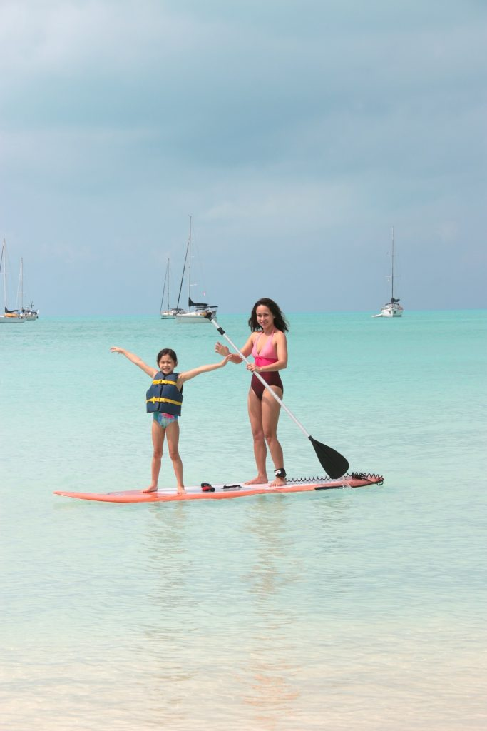 The water is so calm, perfect for Stand Up Paddle Boarding.