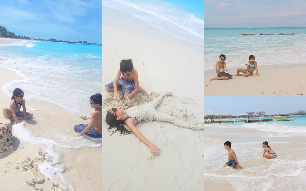 They're in heaven!!! The sand is so soft and the water is warm...