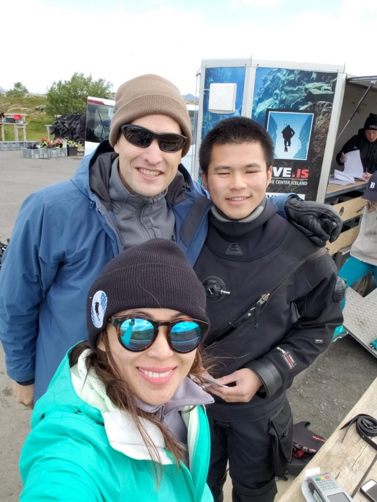 With our awesome guide, Clarence, with Dive.Is Tour