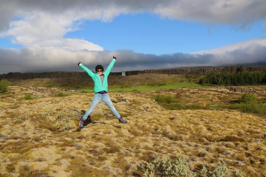 Thingvellir National Park - waterfalls in the background is called Öxarárfoss.
